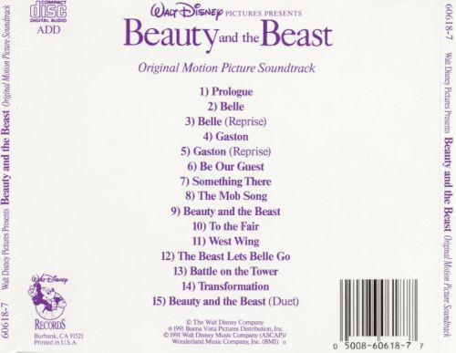 Beauty and the beast soundtrack 1991