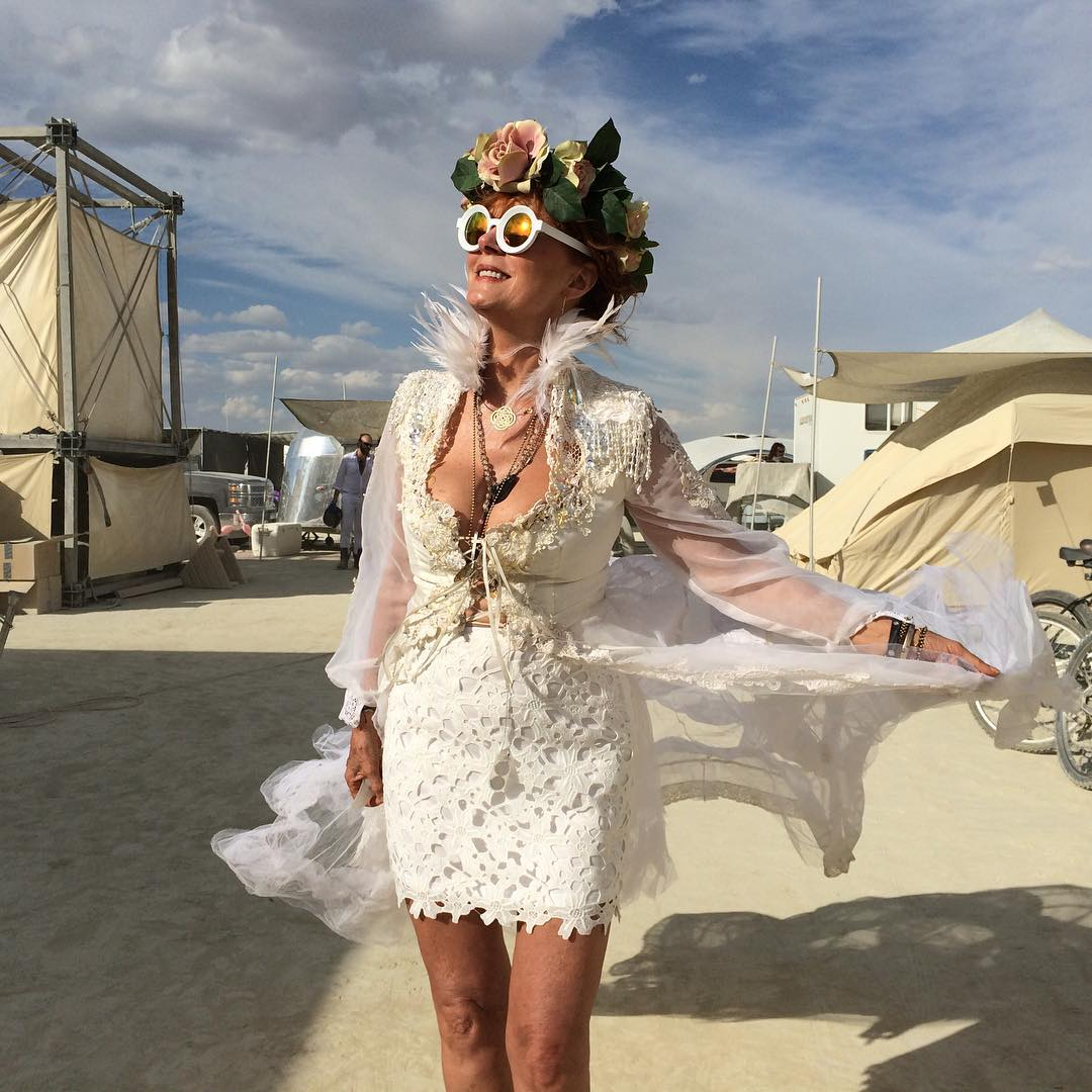 Celebrities at burning man